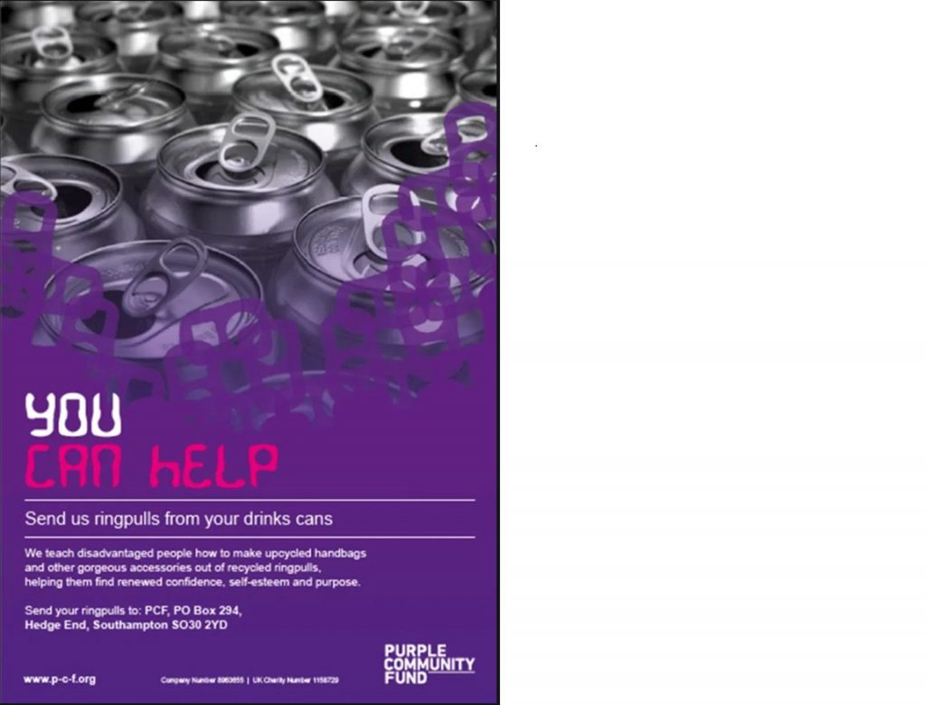 Purple Community Fund Poster